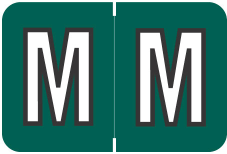 Alpha Letter M      Dark Green (BRPK-M)