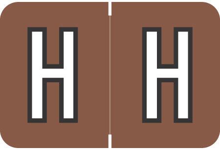 Alpha Letter H       Brown (BRPK-H)