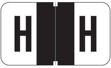Alpha Labels H (JT3R) Black