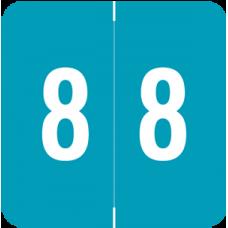 Numeric Label 8  AVNM-8  (500 Labels)