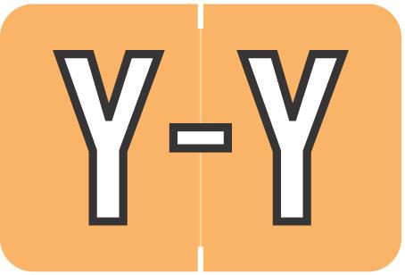 Alpha Letter Y       Light Orange (BRPK-Y)