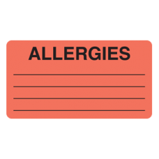 Allergy Labels MAP1630
