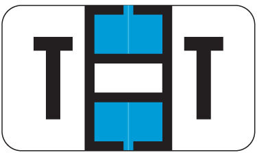Alpha Labels T (JT3R) Blue