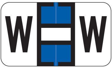 Alpha Labels W (JT3R) Blue