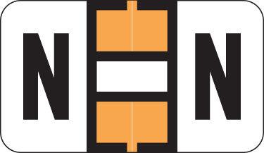 Alpha Labels N (JT3R) Orange
