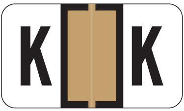 Alpha Labels K (JT3R) Tan