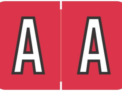 Alpha Letter A Red  (BRPK-A)