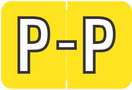 Alpha Letter P       Yellow (BRPK-P)