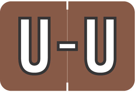 Alpha Letter U       Brown (BRPK-U)