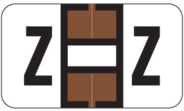 Alpha Labels Z (JT3R) Brown