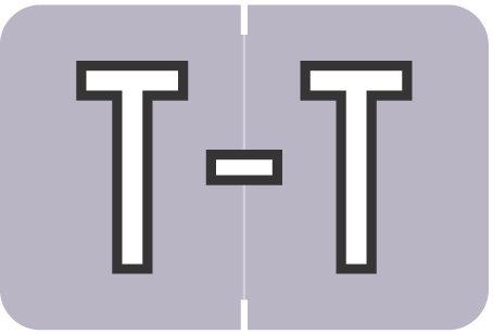 Alpha Letter T       Lavender (BRPK-T)
