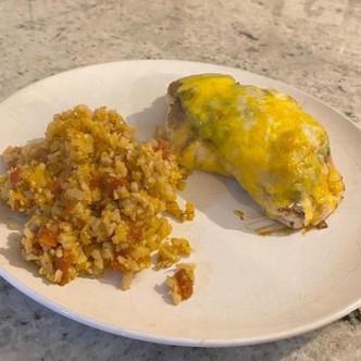 Guacamole Chicken & Spanish Cauliflower Rice