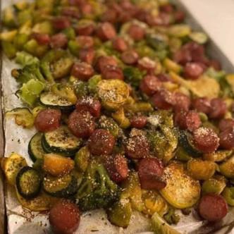 Sausage & Veggie Sheet Pan Bake