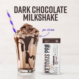 Keto Dark Chocolate Milkshake