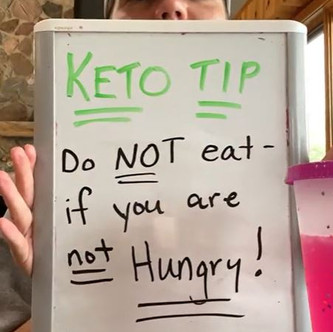 """Two o'clock Tasting & Keto Tip (Day 3): """"Do Not Eat if You're Not Hungry"""" 