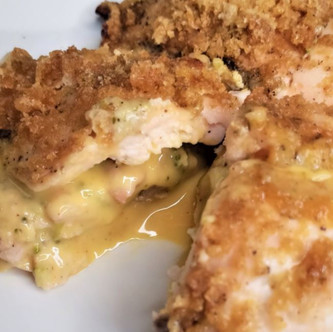 Coated Broccoli Cheddar Stuffed Chicken