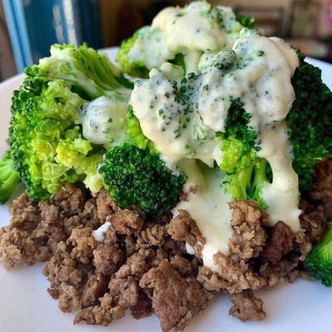 Beef Broccoli in Alfredo Sauce