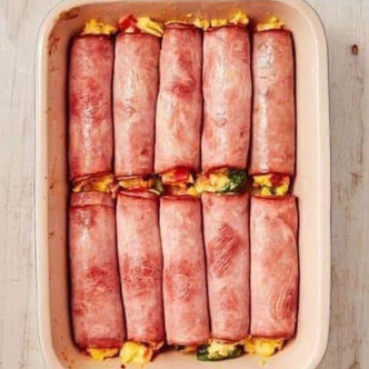 Ham egg and cheese roll ups