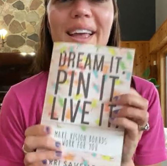 """""""DREAM IT, PIN IT, LIVE IT"""" (Introduction) Why do We Need a Vision Board:   Keto Mom Book Club"""