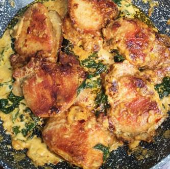 Pork Chops with Garlic Mushroom Cream Sauce