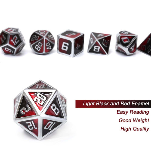 Chengshuo Metal Polyhedral  Dice Set 7pcs
