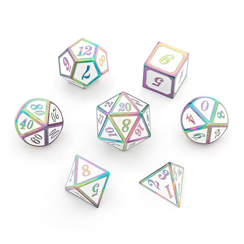 Chengshuo Digital Metal Dice Set for Tabletop Role-Playing games. Dice 7pcs.
