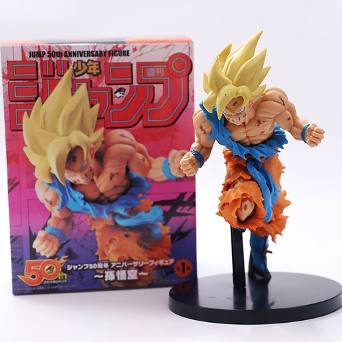Dragon Ball Z Super Saiyan Goku 50th Anniversary Commemorative PVC Collectible