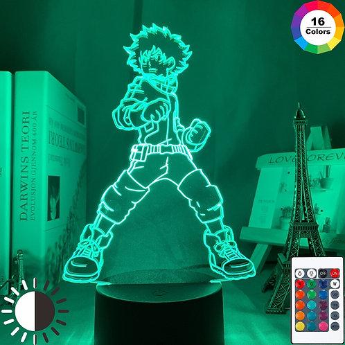 Izuku Midoriya Anime My Hero Academia 3D LED Lamp