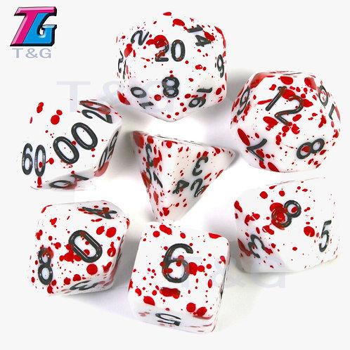 7Pcs/Set Polyhedral Dice Multicolor