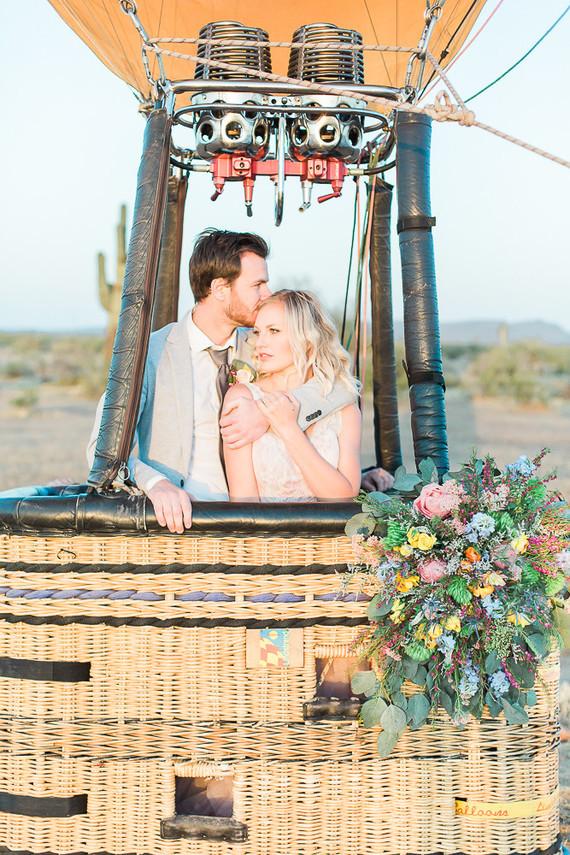 Matrimonio a tema mongolfiera