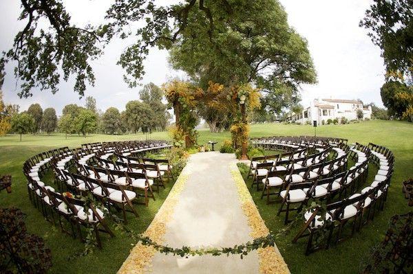 Allestimento circolare cerimonia | Matrimonio Simbolico