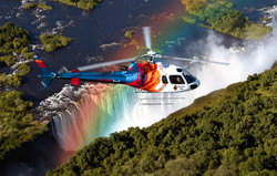 Victoria Falls Helicopter View