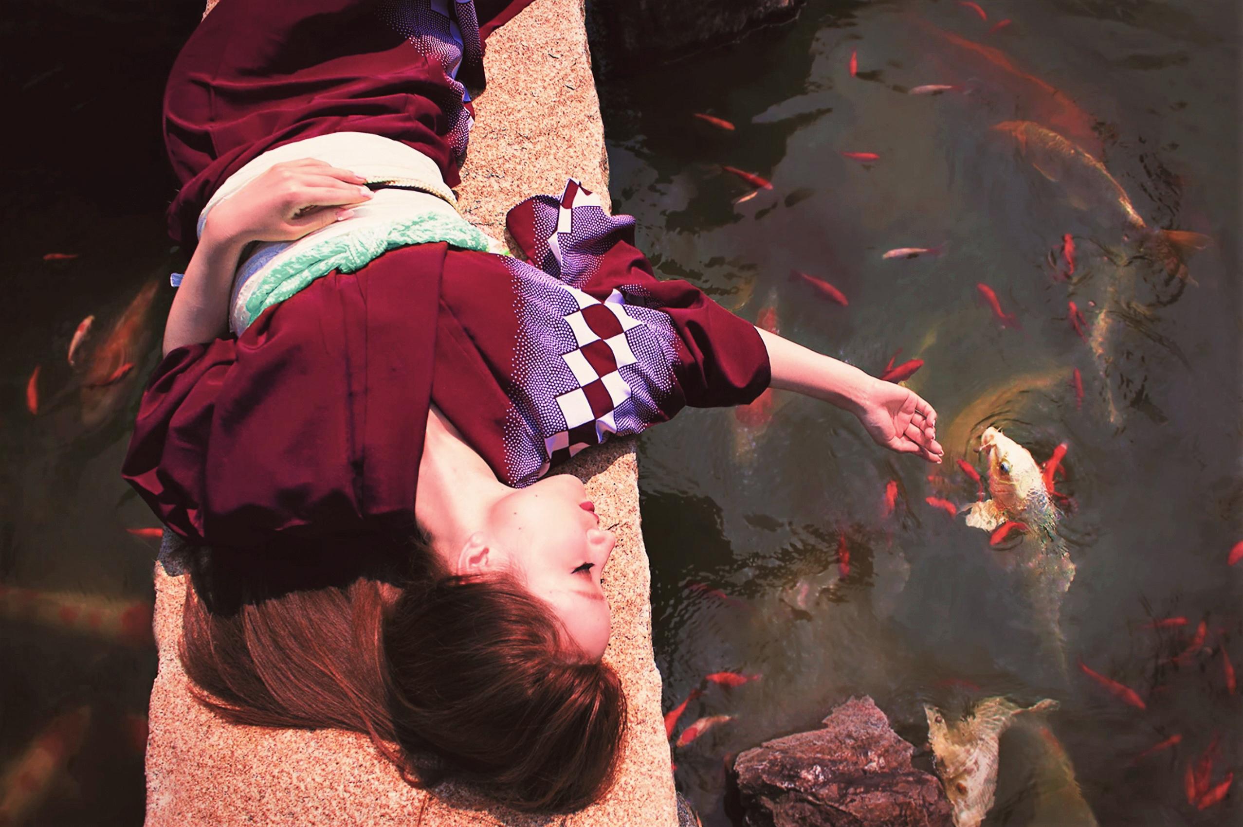 Ayaka and Fish