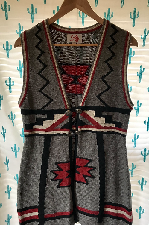 Roja Knit Navajo Vest - Medium