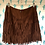 Thumbnail: Brown Fringe Skirt