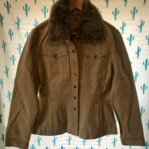 Scully Leather Jacket with Faux Fur