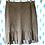 Thumbnail: Cream Suede Ruffle Skirt