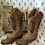 Thumbnail: Distressed Tan Corral Boots - Size 8.5