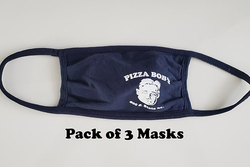 Pizza Bob's Face Mask - Pack of 3
