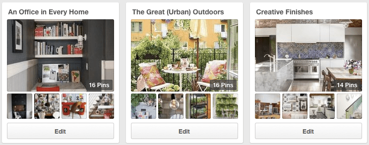 New Pinterest Design Boards