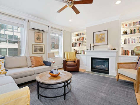 Picture perfect East Cambridge duplex in brick rowhouse