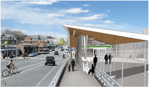 Rendering of the Future Ball Square Green Line Station