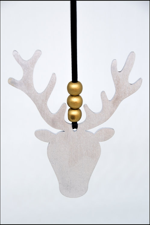 Stag Hanging Decoration - Silver