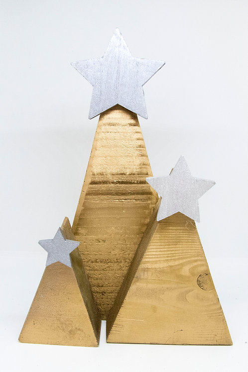 Wooden Trees - Large set (Gold/Bronze + various colours)