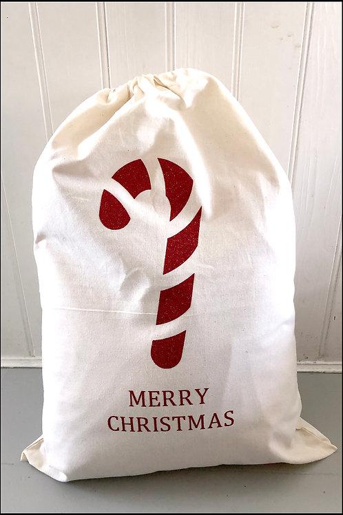 Candy Cane Present Bag