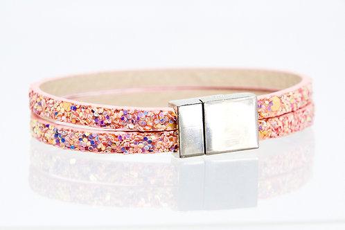 2 Strand Boho-Bracelet (Pink Sparkle)