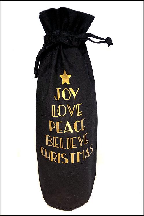 Christmas Words Bottle Bag