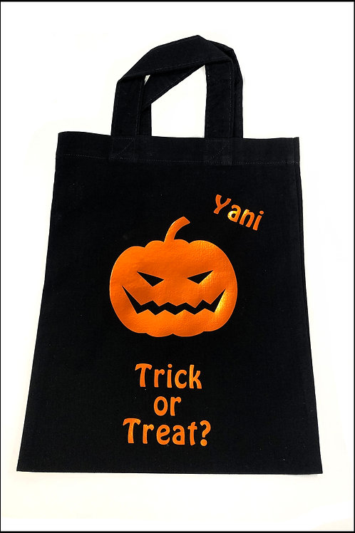 Crazy Pumpkin Halloween Bag