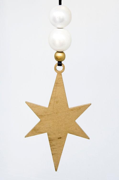 Star Hanging Decoration - Thin Gold