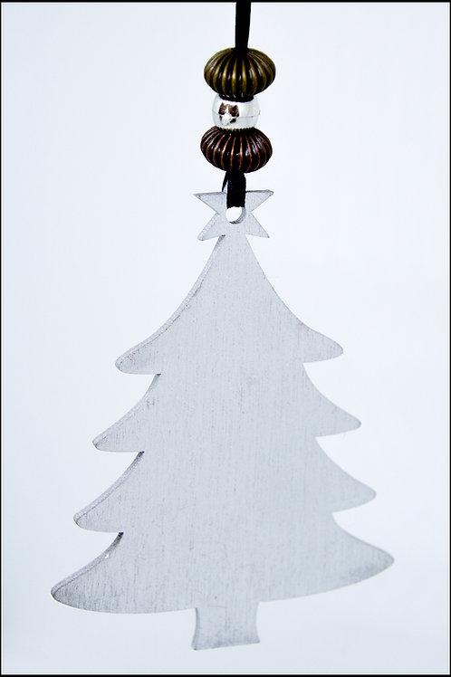 Tree Hanging Decoration - Silver